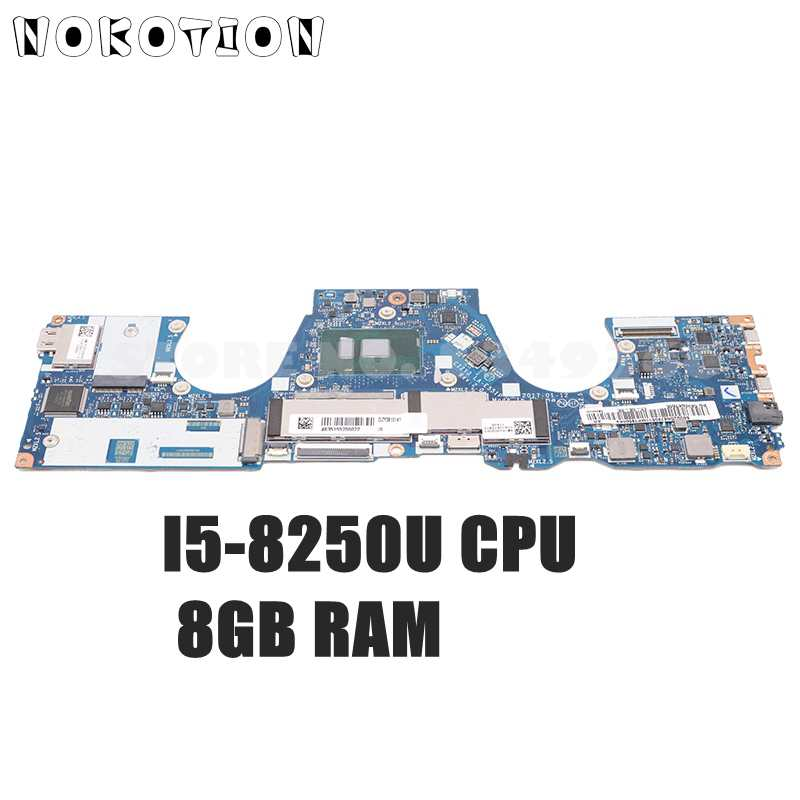العلامة التجارية الجديدة! NOKOTION لينوفو اليوغا 720 720-13IKB اللوحة الأم SR3LA I5-8250U وحدة المعالجة المركزية 8GB RAM 5B20Q10907 DIZY6 LA-E551P