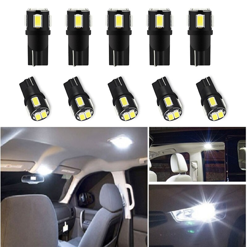10x W5W LED T10 LED Bulb Interior Car Lights For Kia Sportage Rio 3 5 Optima Forte Koup Amanti Spectra 5 Soul Leds for Auto 12V