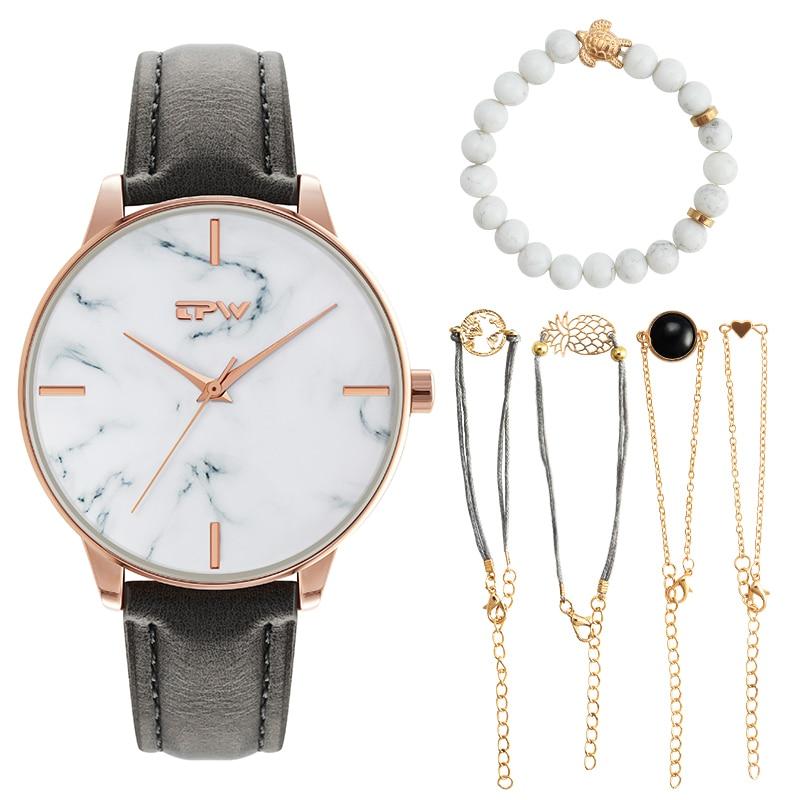 ساعة يد نسائية ذهبية ، ساعة يد فاخرة ، بسيطة ، غير رسمية ، أنيقة ، هدية ، مجموعة ساعة ، نمط Ulzzang الرخامي ، موضة 2019
