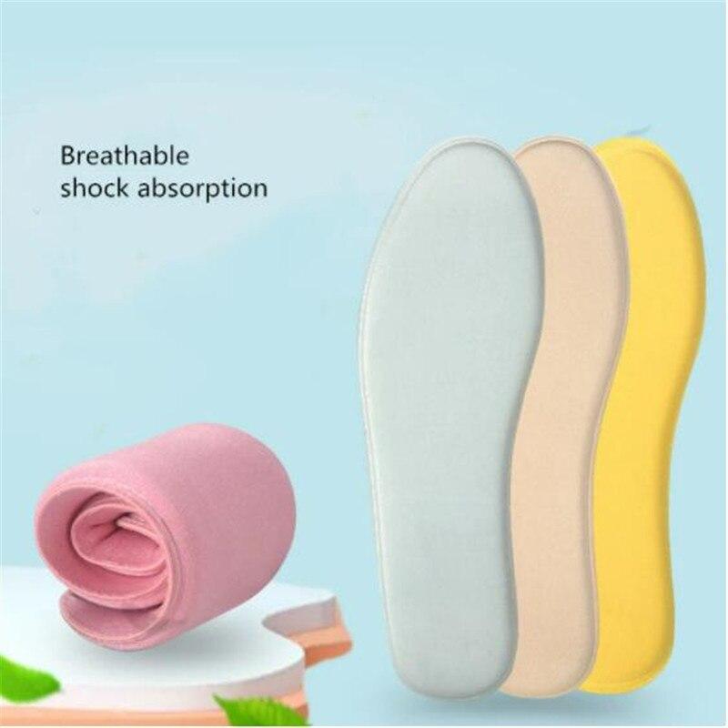 Memory Foam Insoles For Shoes Men Women Sweat Shock Absorption Breathable Sports Insoles Shoe Pad In