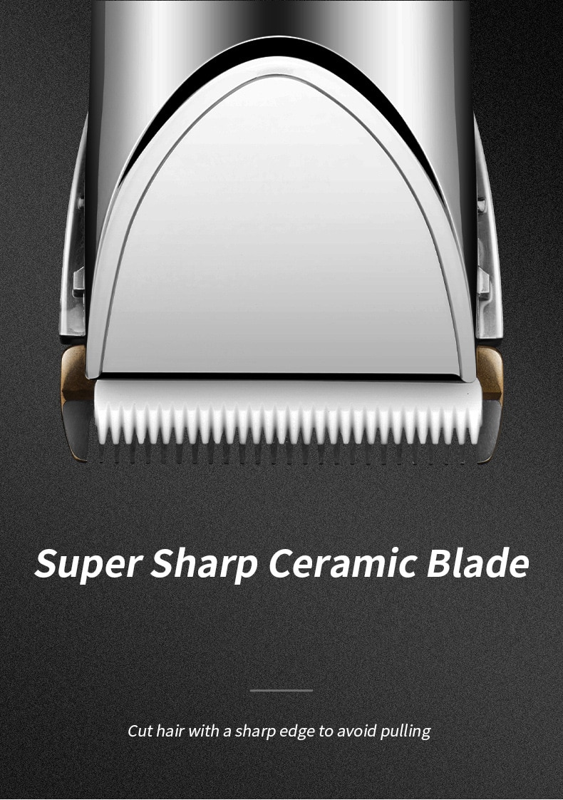 Electric Rechargeable Hair Trimmer rechargeable barber clipper hair cut machine electric hair clipper  LCD Display enlarge