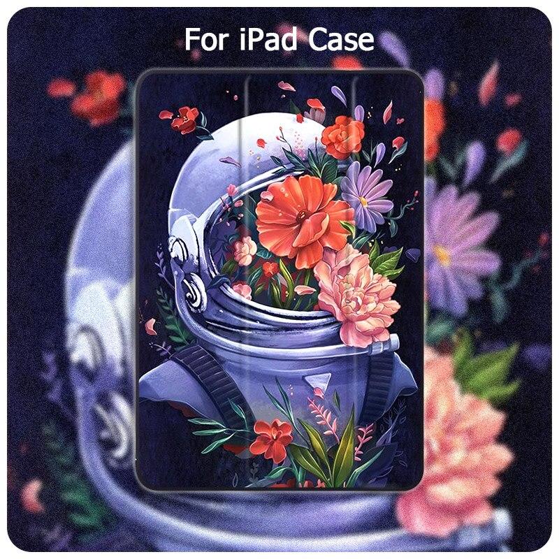 Cute Unicorn Astronaut For ipad Mini 5 4 3 2 1 Tablet Case PU Leather Hard Back Case For ipad 10.2 Air 2 12.9 11 Pro 2020 Cover