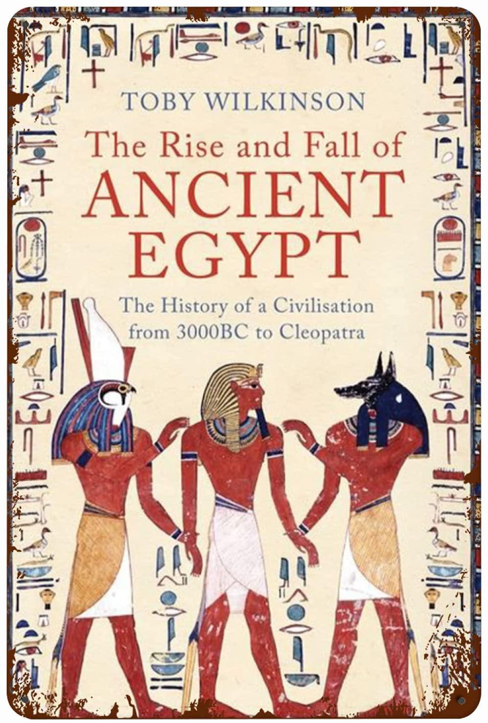 Металлический плакат с табличкой, подъем и падение Древнего Египта, жестяной знак, домашняя Таверна, торговый центр, настенное украшение, Ре...