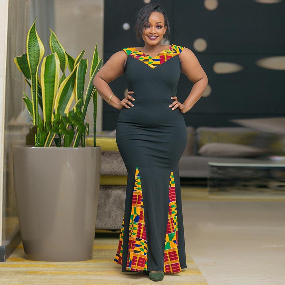 Фото - Женское длинное платье, длинное платье в африканском стиле, одежда 2021 lemaire длинное платье