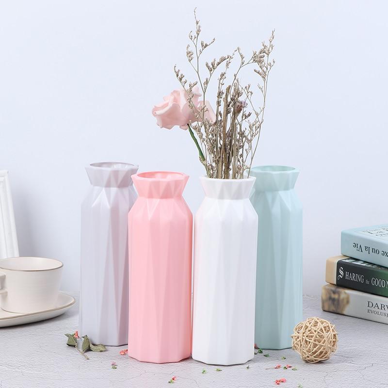 Moderno vaso de flores casa arranjo flor sala estar origami plástico estilo nórdico decoração para casa ornamento decoração para casa venda quente