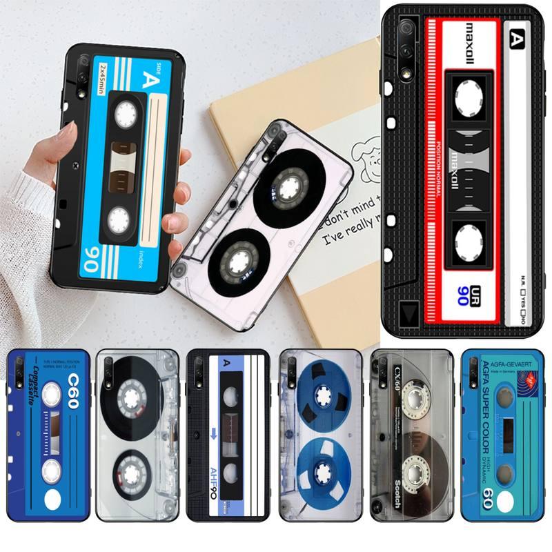 HPCHCJHM moda clásica antigua cinta de Cassette suave funda del teléfono carcasa Capa para Huawei Honor 30 20 10 9 8 8x 8c v30 Lite view pro