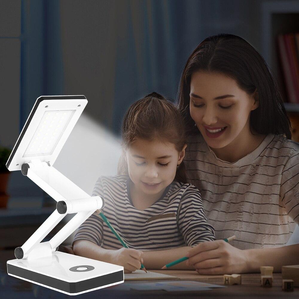 Desk Lamp Table Light Dimmable Touch Led Table Lamp Foldable Desk Light 180 Degree Desktop Study Lights For Reading Room