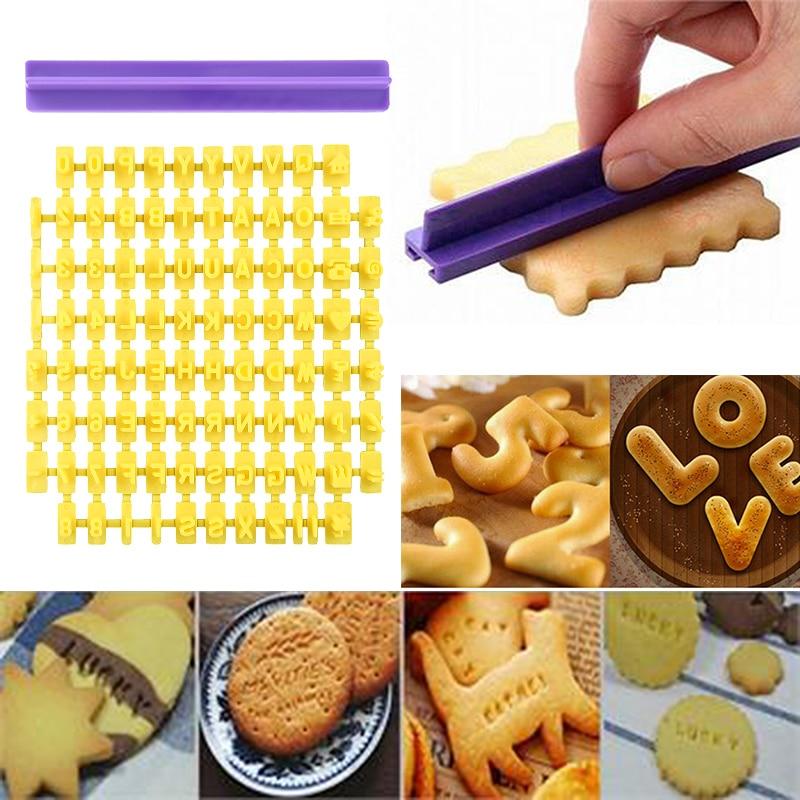 Горячая Алфавит Номер письмо произвести впечатление набор печенья штамп тиснение резак Торт Помадка DIY формы