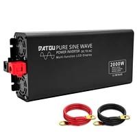 2000w pure sine wave power inverter dc 12v to 110v 230v ac car converter 12v inverter car transformer adapter with lcd display