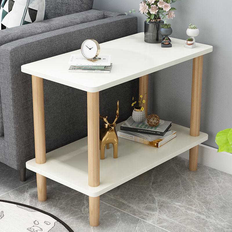 طاولة القهوة شقة المنزل طاولة جانبية أثاث غرفة نوم منخفضة الجداول الشمال أريكة خشبية مصمتة طاولة جانبية طاولة مستديرة غرفة المعيشة