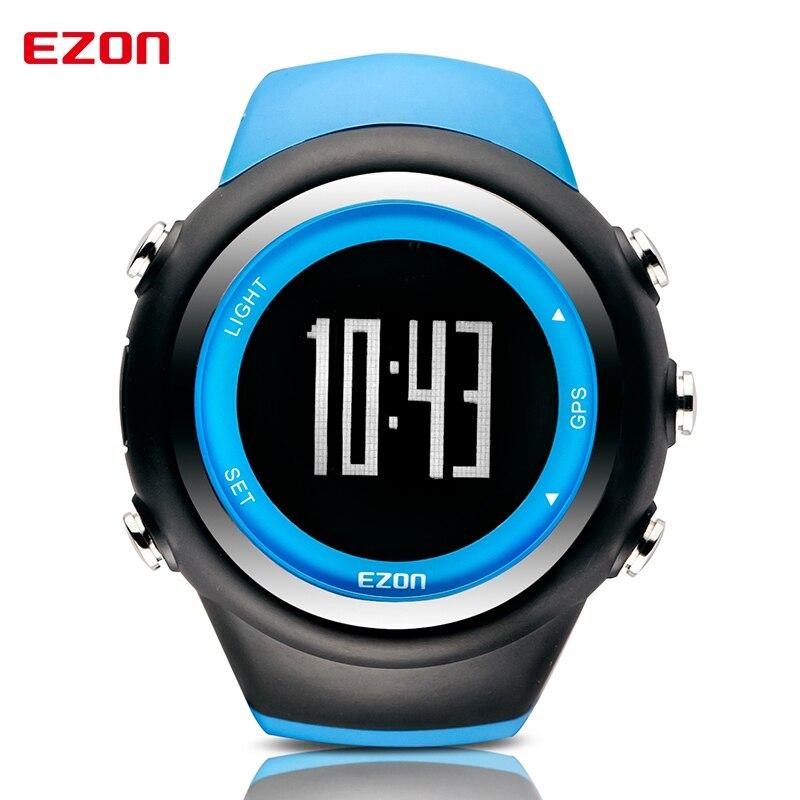 Relógio de Pulso Fitness para Corrida e Esportes Contador de Calorias à Prova T031 com Gps Recarregável Ezon Relógio D'água 50m