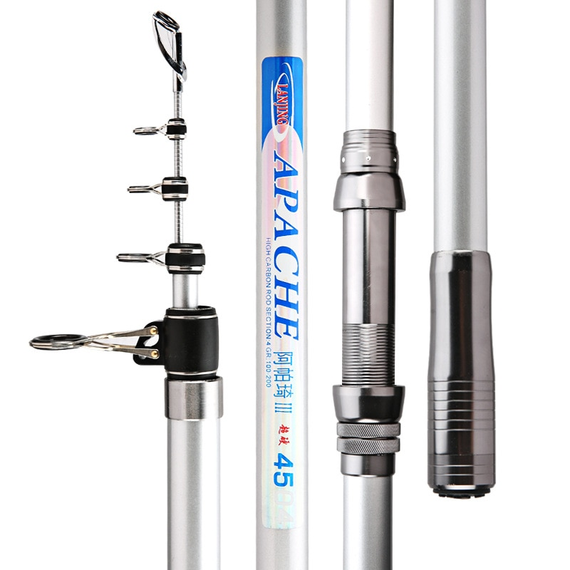 60T Carbon Rock Angeln Canne Pesca Sea Pole Long-sections Distance Throwing Rod Anchor Pole Telescopic Wedkarstwo Olta 3.6m-5.4m enlarge