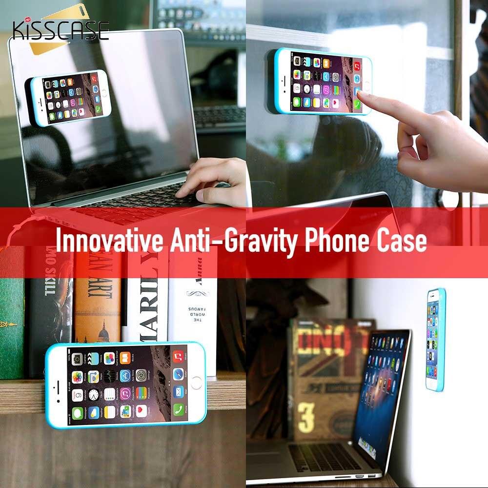 KISSCASE Anti gravedad caso para iPhone 11 6 6s 7 7 8 X XS X MAX pegajoso Funda para iPhone 8Plus Липкий чехол на айфон 11PRO