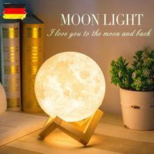 Yonntech 3D Moon Lamp Night Light LED  Rechargeable Desk Lights diameter 15cm Home Decoration Birthd