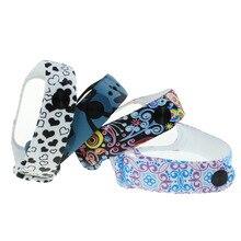 Pour Xiao mi mi bande 3 Sport impression Silicone Bracelet Bracelet Sport Bracelet de remplacement Bracelet de montre intelligente