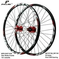pasak mtb wheelset aro 29 27 5 26 clincher rims disc brake 32 holes f9x100 r9x135 hub font 2 rear 5 bearing bicicleta carretera