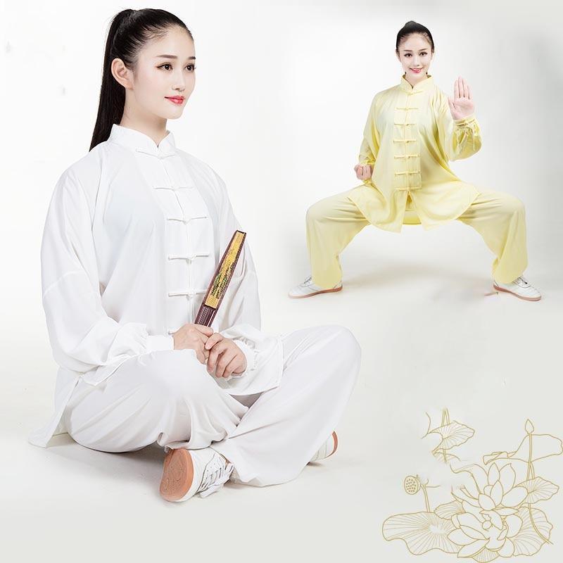 ملابس تاي تشي للرجال والنساء ، ملابس ممارسة ، على الطراز الصيني ، قطن وحرير ، فنون قتالية ، صباحي ، تاي تشي ، SL3023