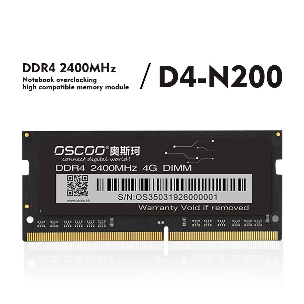 OSCOO DDR4 Memory Bar 4GB/8GB/16GB 2400Mhz حاسوب محمول سطح المكتب DDR4 اللوحة 260Pin 1.2V SO DIMM ذاكرة عشوائيّة للحاسوب المكتبي
