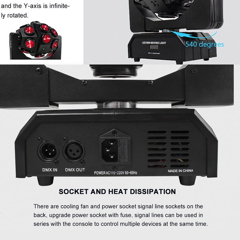 Led 18x12W Moving Head Laser Projector Lighting RGBW 4in1 Beam Stage Light Whirlwind Effect For Dj Disco Party Ball Strobe Laser