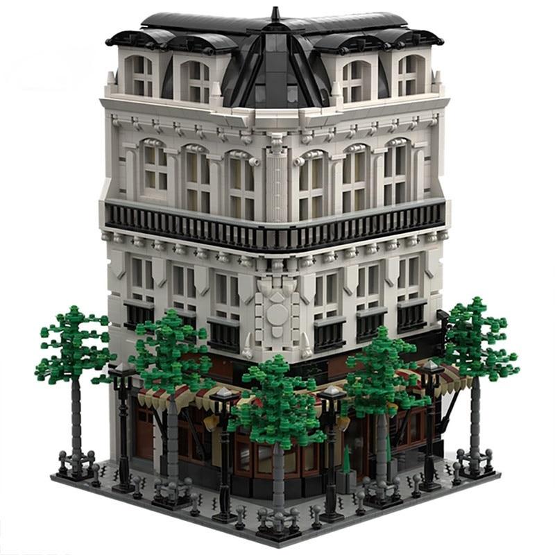 Moc 40476 Paris Boulangerie Studio Bakery Shop Architecture Model Building Blocks Series Street Store Children Brick