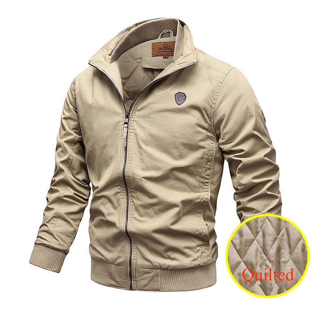 Мужская куртка-бомбер в стиле милитари, повседневная армейская куртка-бомбер, куртка-пилот в стиле милитари, мужские армейские куртки-карго...