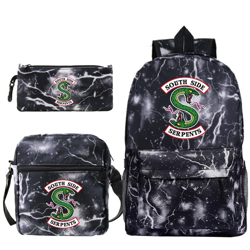 2019 горячая Распродажа Riverdale, рюкзак с рисунком, школьная сумка для мальчиков и девочек, дорожная сумка, рюкзак для ноутбука с ручками через п...