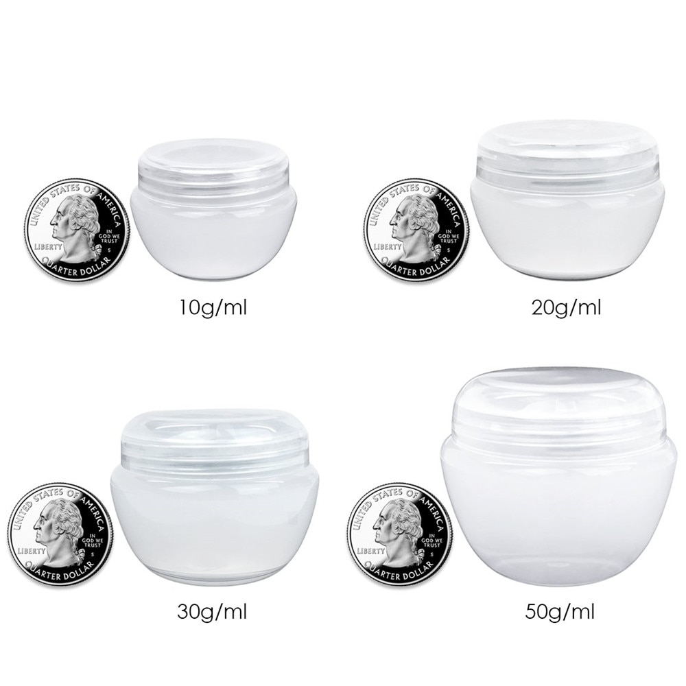 10Pcs New Empty Jars with Inner Cushions for Skin Care Products, Balms, Ointments, Hand Creams, BB C