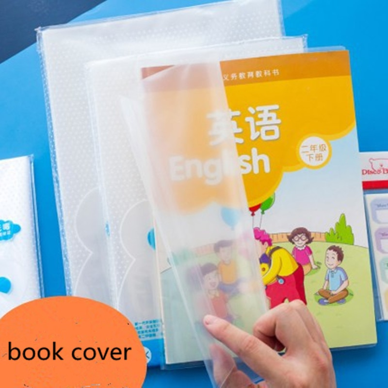 Transparent book cover book cover waterproof student workbook cover book leather thick and durable book cover challenges 1 student book