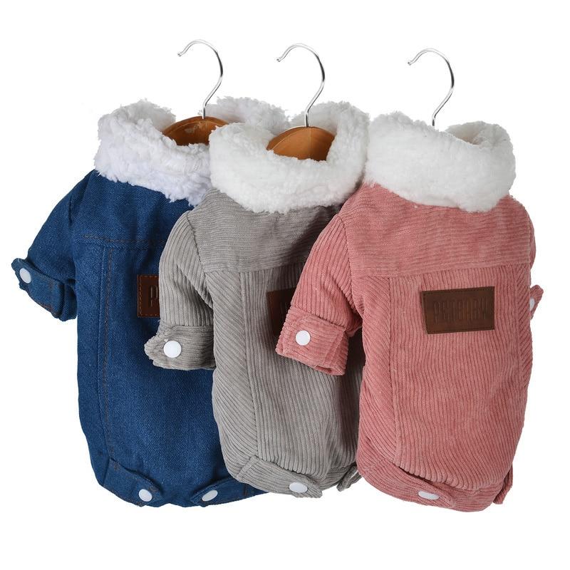 Осенне-зимняя одежда для собак, утепленная женская куртка, мягкая флисовая одежда для чихуахуа, французского бульдога