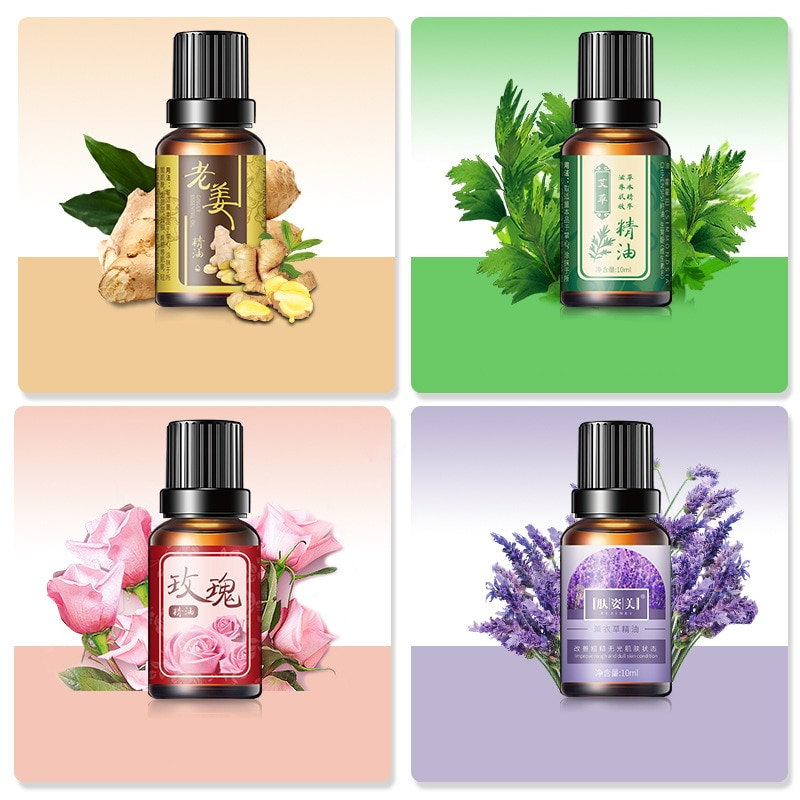 10ML Lavender Essential Oil Diffuser Pure Essential Oil Lavender Rose Wormwood Ginger Aromatherapy Oil Body Massage Oil недорого