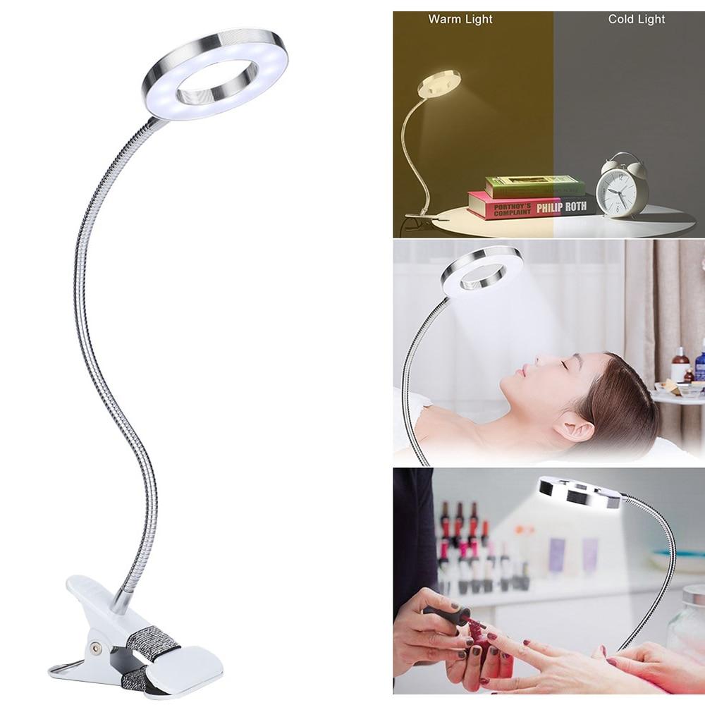 Clip-on Desk Lamp USB Table Lamp Eye Protection LED Table Light Bendable Flexible Reading Desk Lamp Nail Tattoo Reading Beauty