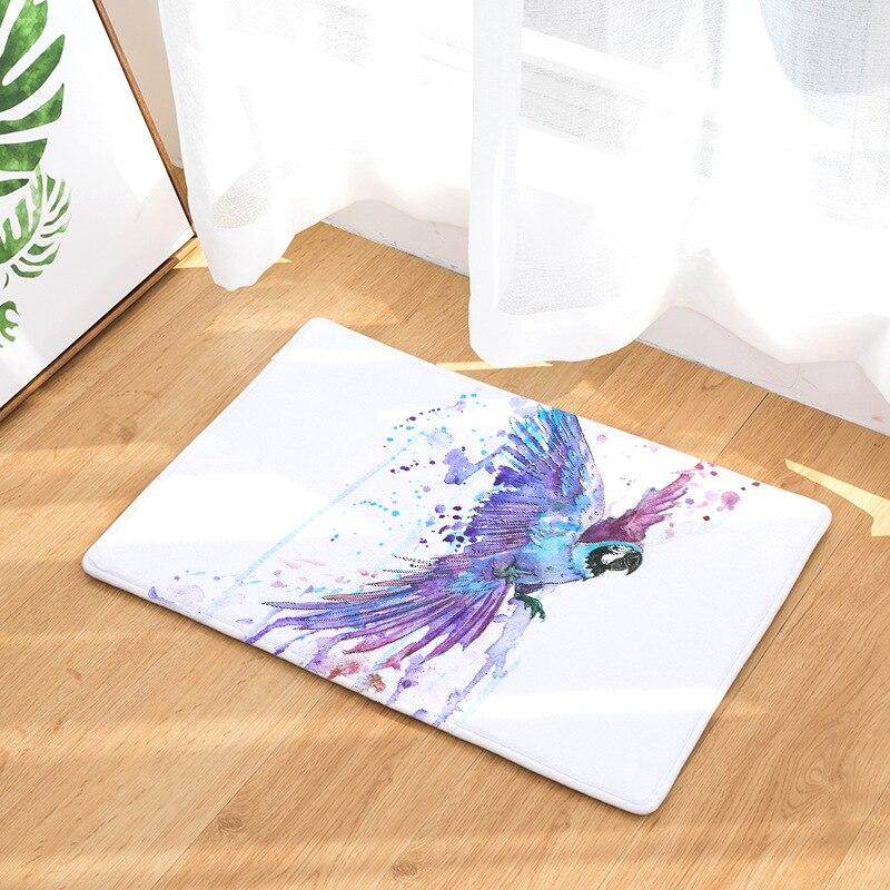 CAMMITEVER alfombras de noche coloridas de Felpudo de pájaros antideslizantes para mesa de café alfombra de piso para dormitorio alfombra de cocina
