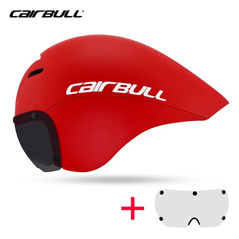 Mtb capacete de bicicleta aero capacete com lente triathlon tt tri óculos corrida ciclismo estrada timetrial bicicleta peças reposição acessórios casco