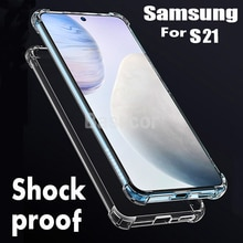 Original Clear Silicone Phone Case Cover For Samsung Galaxy S21 S20 S20Fe S10e S10 S9 S8 Note 10 9 2