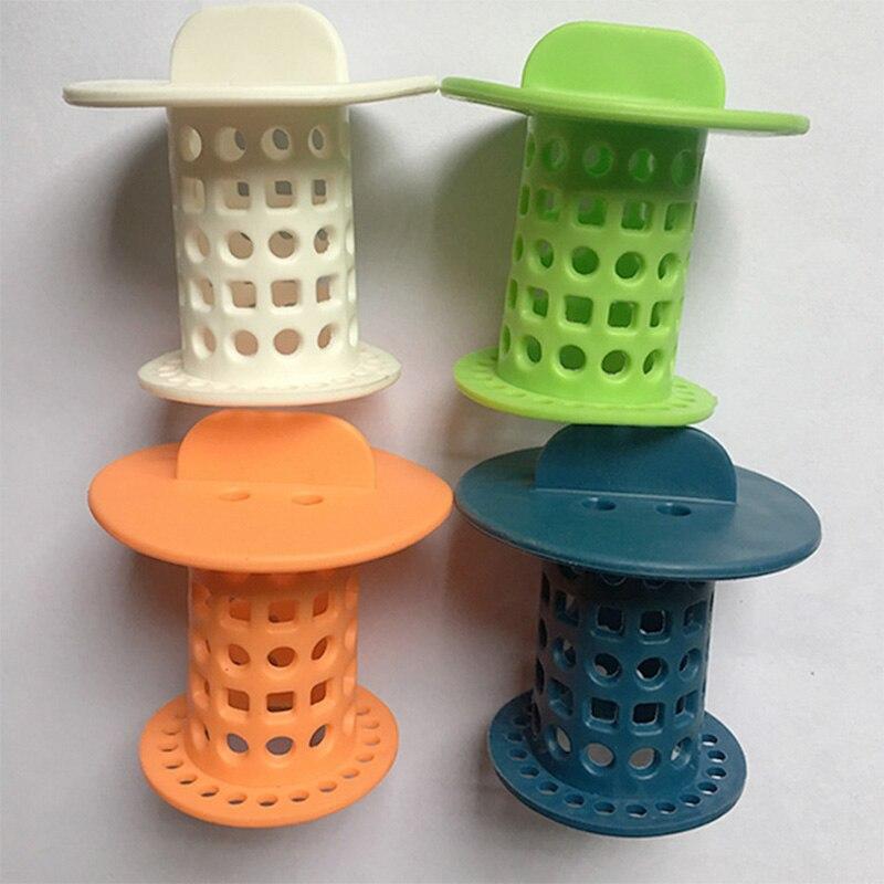 Desagüe de cocina cilíndrico de suelo de seta de silicona de 1 pieza, fregadero de plástico antiobstrucción para baño, tapón de agua filtrada, desagüe de suelo