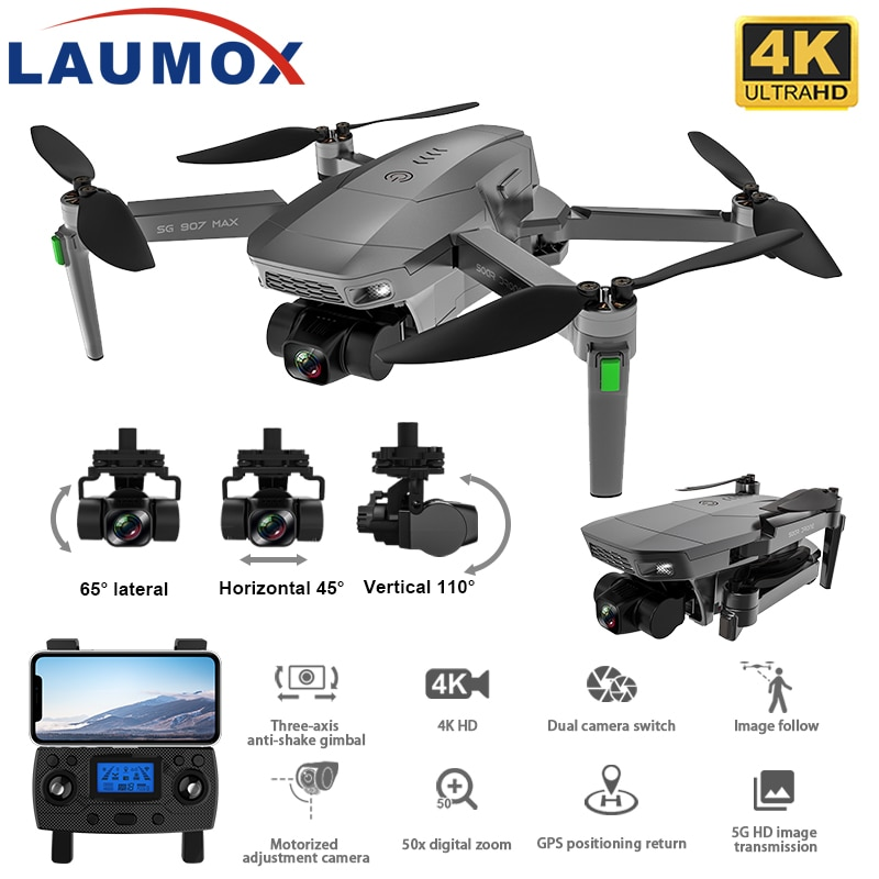 LAUMOX SG907 MAX 4K Camera GPS Drone 5G WiFi With 3-Axis Gimbal 25 Minutes Flight Profesional RC Quadcopter Dron SG906 PRO 2