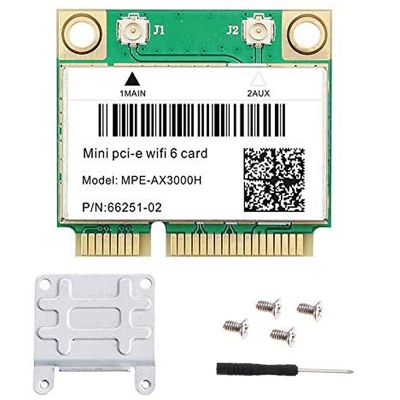 MPE-AX3000H ثنائي النطاق واي فاي 6 بطاقة 802.11Ax اللاسلكية نصف بطاقة واي فاي صغيرة PCI-e واي فاي محول الشبكة