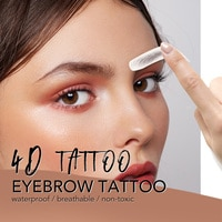 11 pairs 4D Hair Like Authentic Eyebrows 7 Days Long Lasting Waterproof False Eyebrow Sticker Makeup Eyes Tattoo Stickers