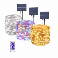 fairy lights string 100300 leds solar led light outdoor christmas garland waterproof solar light garden decoration solar lamps