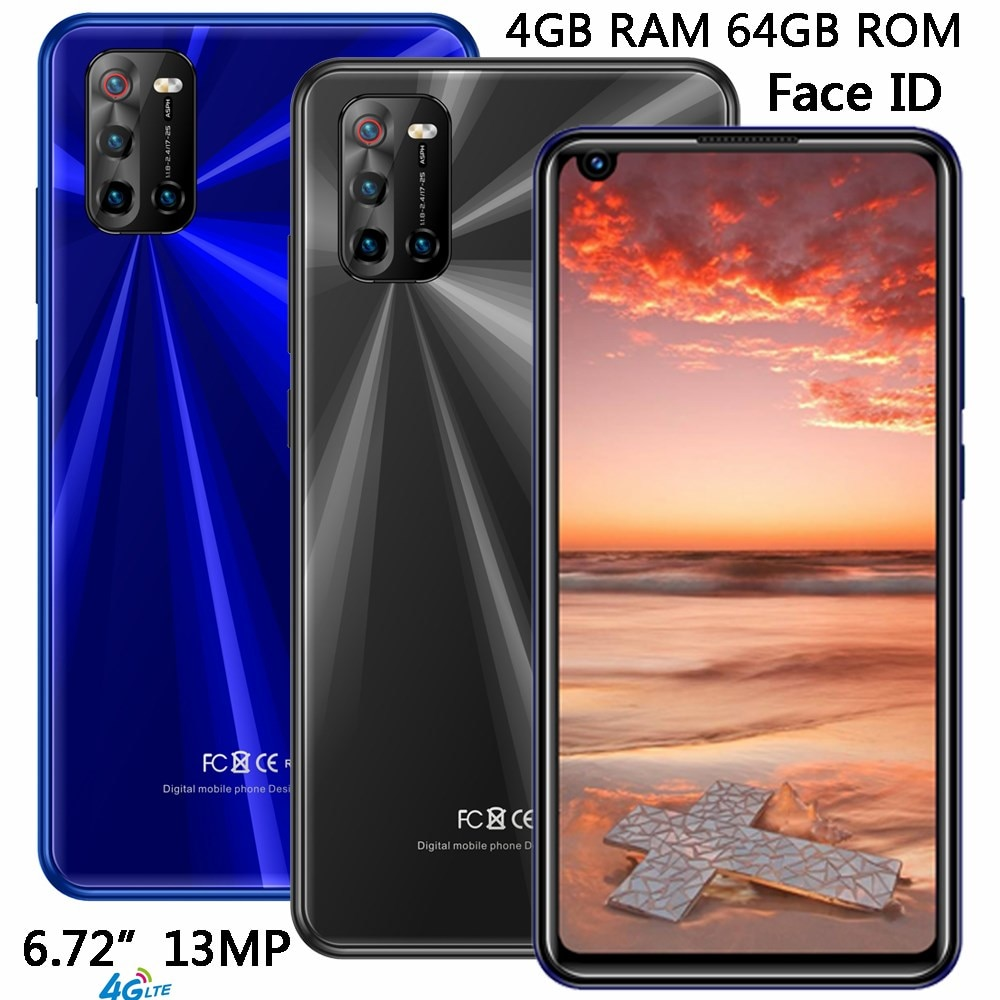 LTE F3 4G RAM 64G/32GROM 13MP Face ID Cheap Phones Android Global Version 6.72