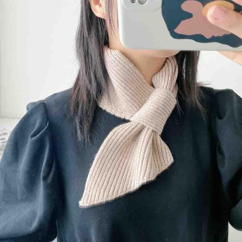 Bufanda tejida de lana para mujer, versión coreana, Simple Ins Wind, Color...