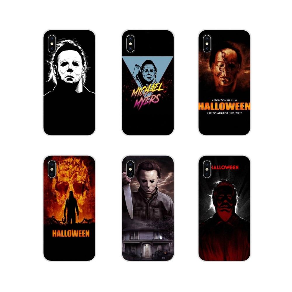 Michael Myers Halloween Filme Für Samsung A10 A30 A40 A50 A60 A70 M30 Galaxy Hinweis 2 3 4 5 8 9 10 PLUS TPU Transparent Haut Fall