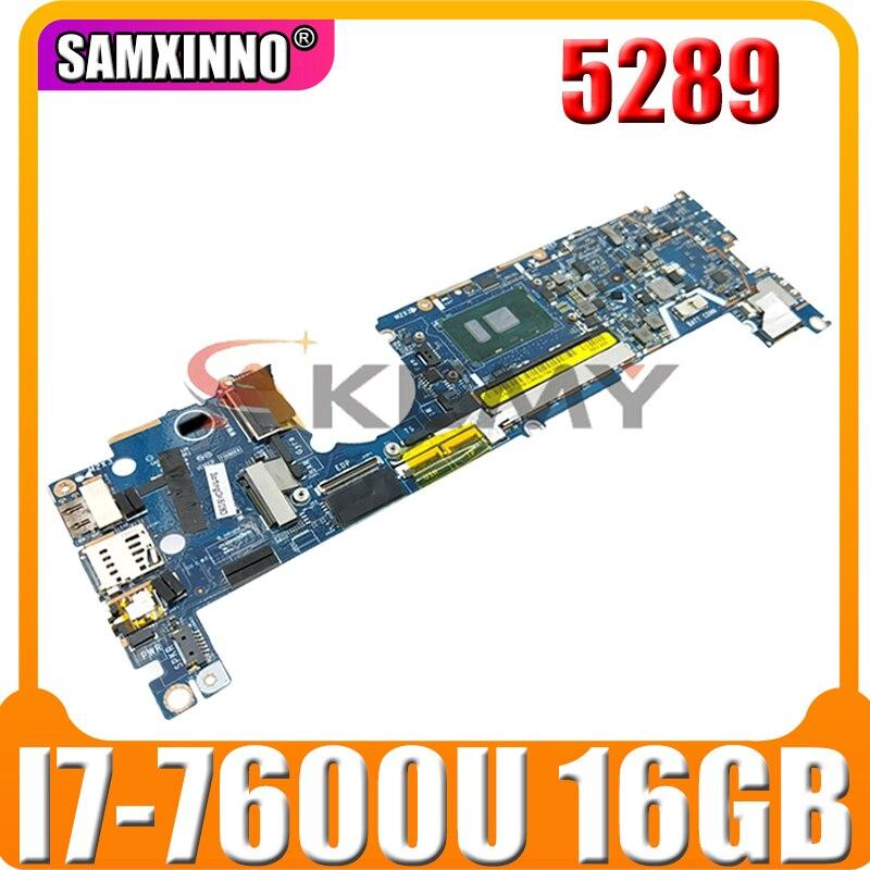 لأجهزة الكمبيوتر المحمول DELL Latitude 5289 CN-07DCRR 07DCRR 7DCRR CAZ40 LA-E111P مع وحدة المعالجة المركزية I7-7600U 16GB RAM 100% تم اختبارها بالكامل
