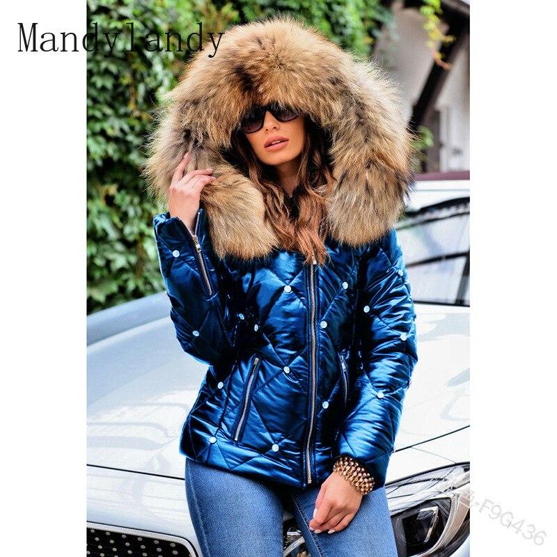 Парка Mandylandy Женская Повседневная с длинным рукавом, пальто с капюшоном и заклепками и карманами, парки зимние модные однотонные облегающие ...