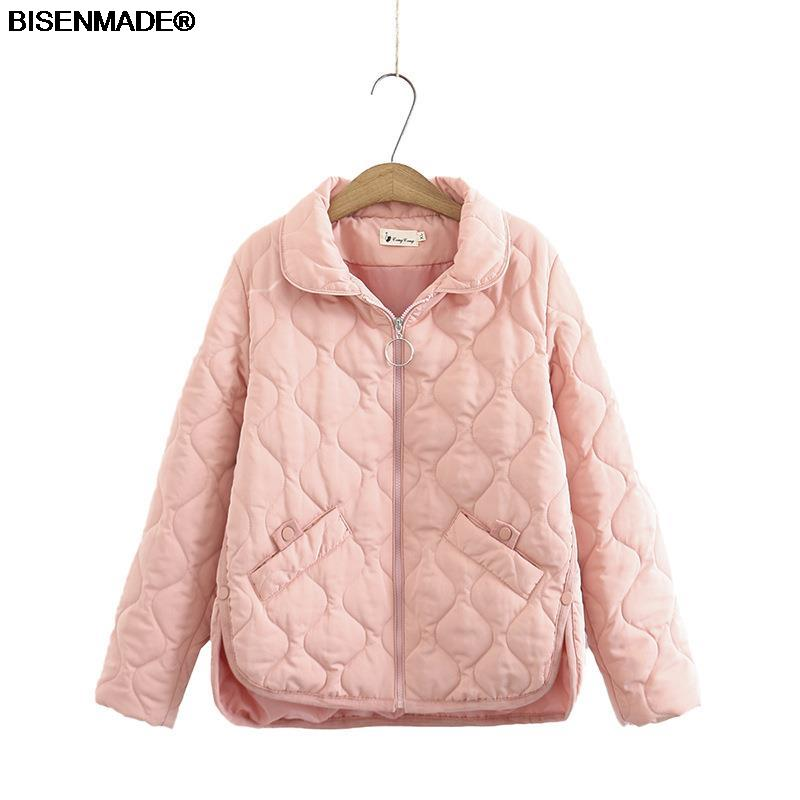 Autumn Winter Parka Women Clothes Plus Size&Curve 2021 New Padded Coat Simple Loose Buttons Split On Both Sides Warm Outerwear