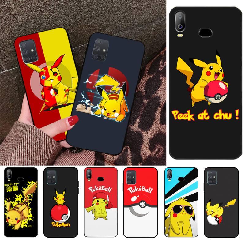 Funda de teléfono de lujo HPCHCJHM, divertida y bonita Pikachu DIY para Samsung A10, A20, A30, A40, A50, A70, A80, A71, A51, A6, A8, 2018