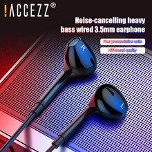 ! Access zz 3.5mm Jack filaire écouteur dans loreille filaire contrôle basse stéréo Surround musique écouteurs pour iPhone 11 Pro 8 Samsung écouteur