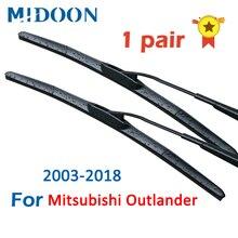 MIDOON balais dessuie-glace hybride pare-brise pour Mitsubishi Outlander Fit crochet bras année modèle de 2003 à 2018