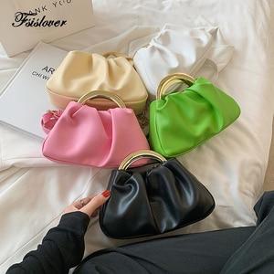 Day Clutch Soft Leather Hobos Bag Dumpling Clip Purse Bag Women Cloud Underarm Shoulder Bag Pleated Baguette Pouch Totes Handbag