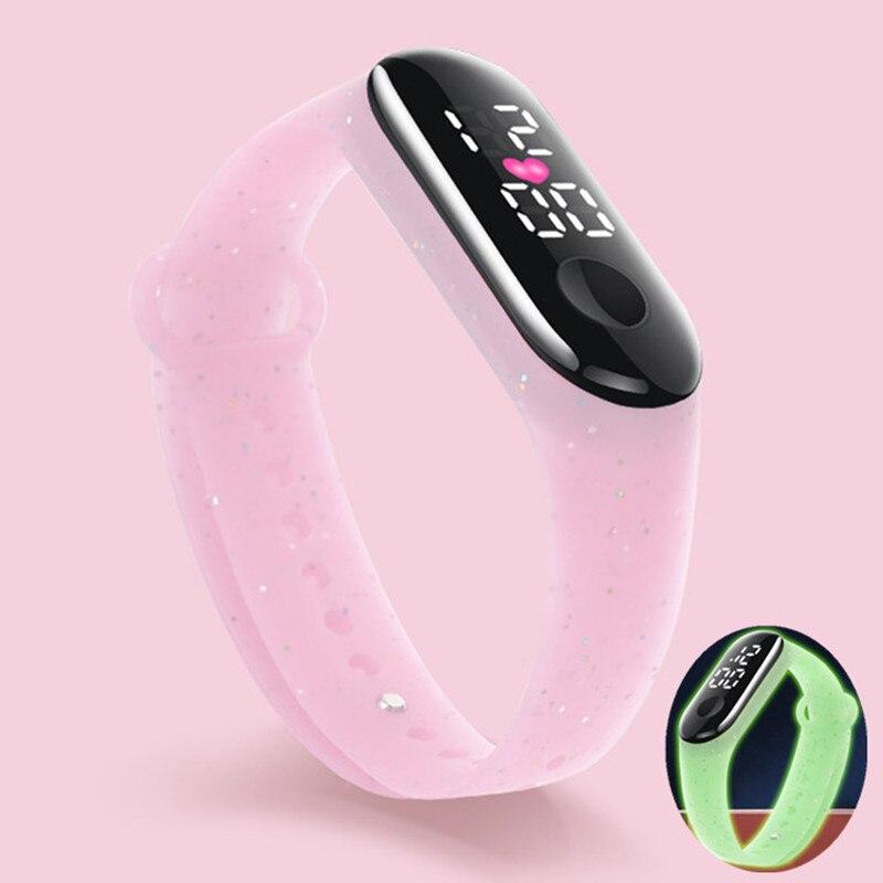 Luminous Waterproof Children's Watch Sport LED Digital Watches for Girls Boys Soft Rubber Strap Kids